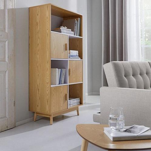 Biblioteca Diseño Nordico en Roble Americano Ref: Alione (80x40x162)