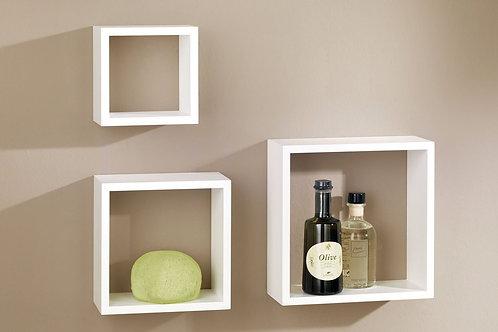 Cubos Repisas x3 Diseño minimalista Ref: Cutry (24X12)(28X12)(32X12)