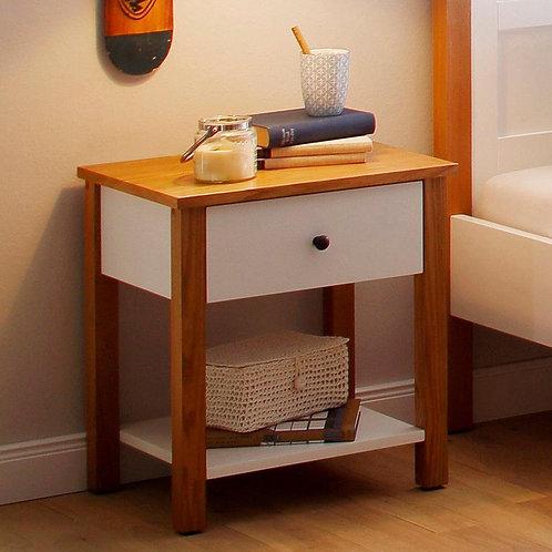 Mesa de noche en madera diseño moderno Ref:Ariel (50X40X55)