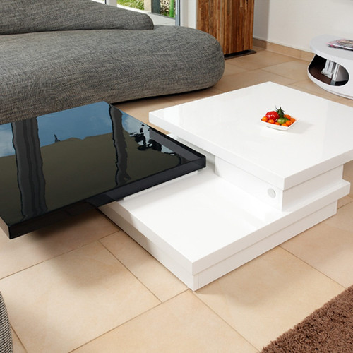 mesa de centro diseo moderno giratoria ref platinum pro