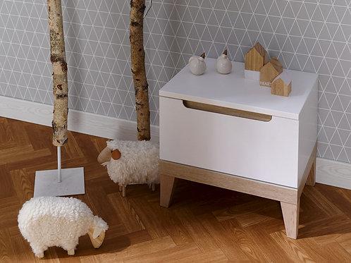 Mesa de noche diseño escandinavo Ref:Topacio Pro (50X40X40)