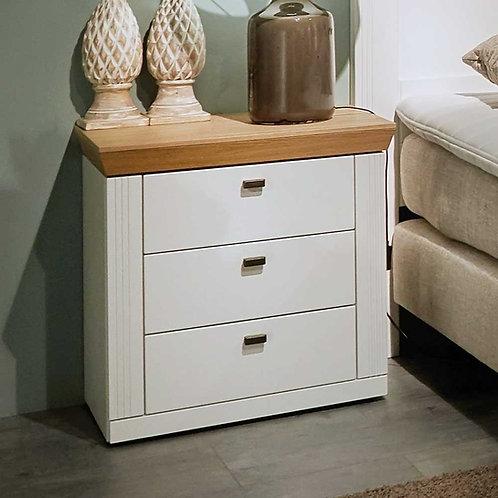 Mesa de noche Diseño moderno con tapa en Teka Oriental Ref: Cianita (55X40X65)