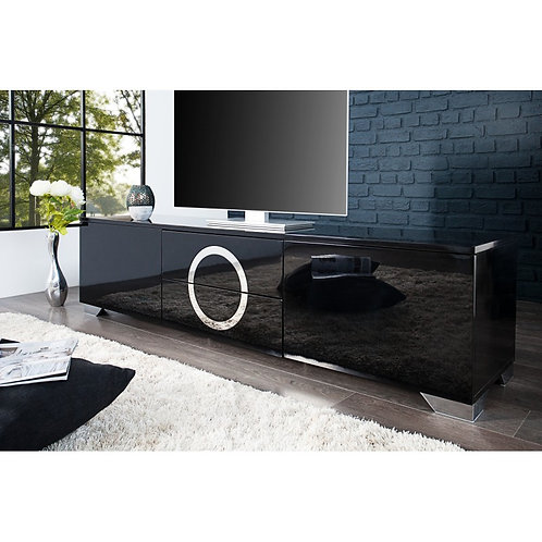 Mesa de Television Moderna con Cromo Ref Ozmor (180x40x50)