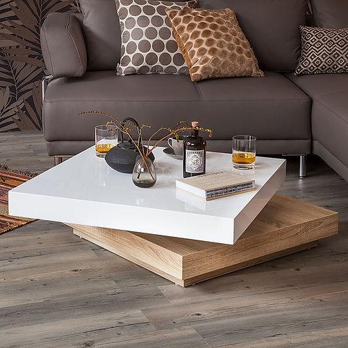 Mesa de Centro diseño Moderno Giratoria Ref: Girasol Plus (80x80x34)