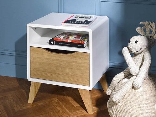 Mesa de noche diseño moderno con madera Ref: Topacio (45X38X50)