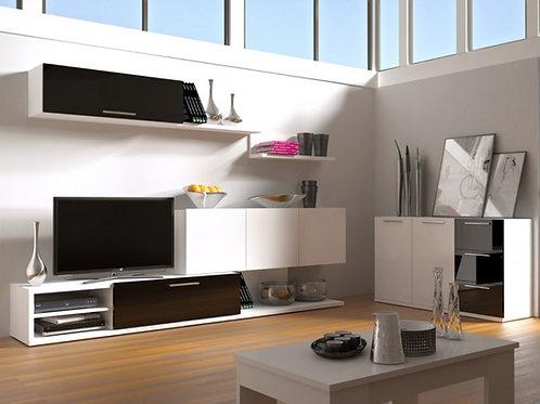 Centro de entretenimiento diseño minimalista en alto brillo Ref: Pool