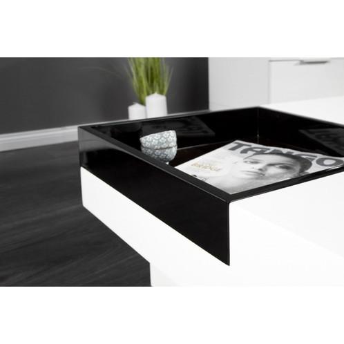 grfica y prctica la mesa de diseo teena tiene una bandeja amovible para poner objetos con sus amigos o invitadoses de un material mdf lacado blanco y
