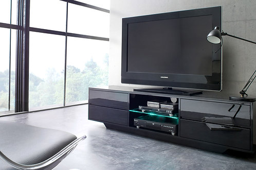 Mesa De Televisión Minimalista con Vidrio/Iluminacion Ref: Sante (180X40X50)