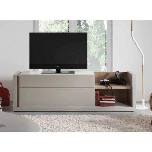 mesa de televisin moderna en madera lacada ref danny