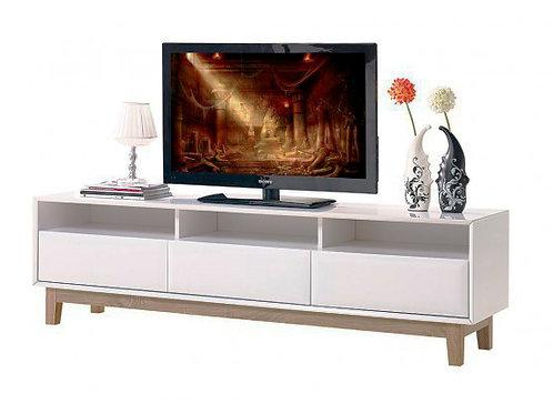 Mesa de televisión moderna patas en madera de roble Ref Venice (180x40x50)