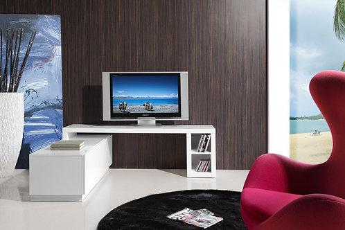 Mesa De Televisión Diseño Amovible Lacado Blanco Ref: Troye (160X40X52)