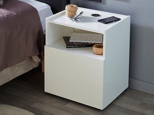 Mesa de noche diseño moderno con nicho Ref: Meral X (46X40X50)
