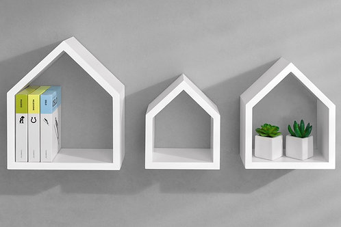 Estanteria / Repisa Diseño Minimalista x3 Ref: House (18/22)(22/26)(26/30)*14