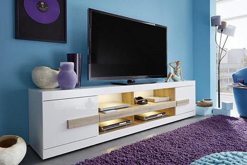 Mesa de Television Moderna con Roble e Iluminacion Led Ref: Betax (200X40X50)