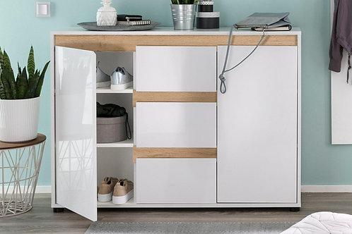 Comoda Diseño Moderno Blanco y Roble Ref: Salome (120x40x82)
