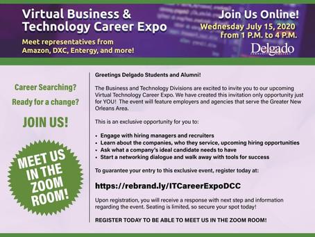 Delgado Offers Virtual Business & Technology Career Expo