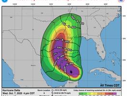 Hurricane Delta - Anuncio de Servicio Público 7 de octubre de 2020