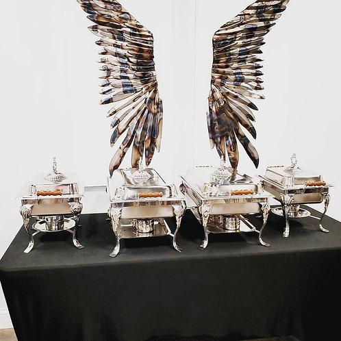 (4) Chafer Pans Set