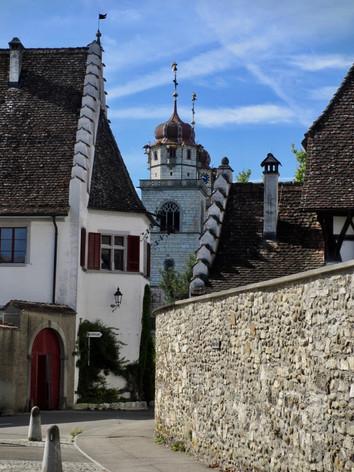 Rheinau sicht auf Klosterplatz