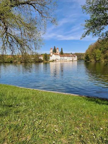 Rheinau Klosterinseln mit Rhein