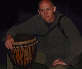 African djembe and drummer