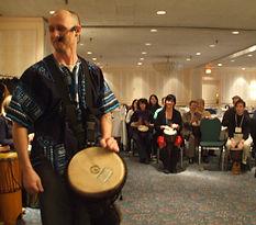 Cliff Patton drumcircle facilitation.