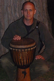 African djembe drum and drummer