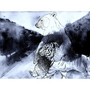 _Ours & Tigre Marchent B&W.jpg