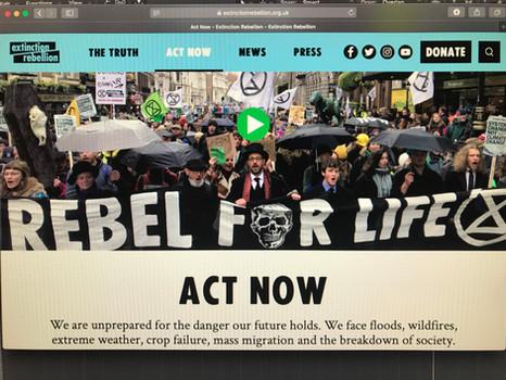 Extinction rebellion rebel for life