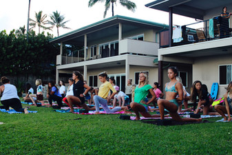Yoga session with Alexis Inso.