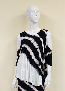 WATERFALL COLD SHOULDER TUNIC
