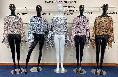 Cheetah Chiffon 7-way Scarf