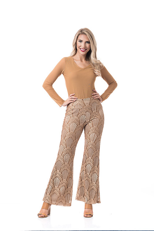 FLORAL LACE PALAZZO PANT