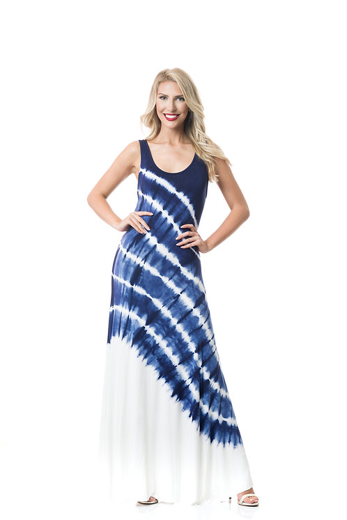 CROATIA TIE BACK HALTER MAXI DRESS