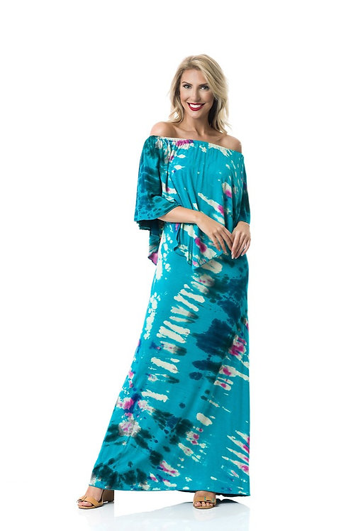 MALDIVES 3- WAY ANGEL MAXI DRESS