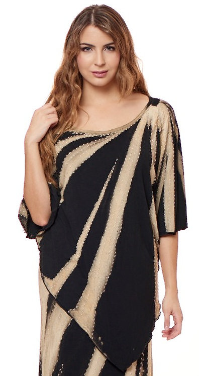 ART DECO HAND BEADED V-POINT TUNIC