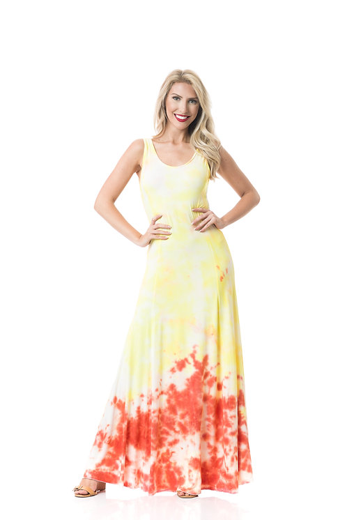 SUNRISE TIE BACK HALTER MAXI DRESS