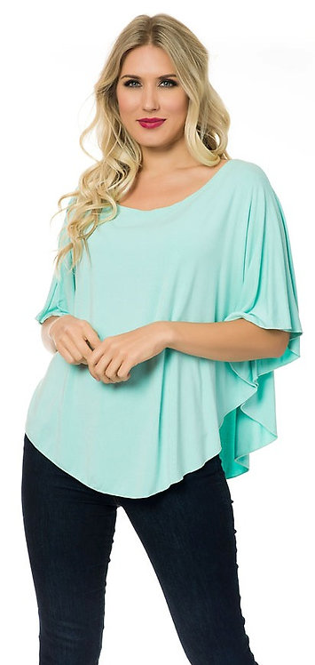SOLID BUTTERFLY TUNIC