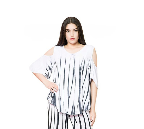 BAMBOO/3 COLD SHOULDER TUNIC