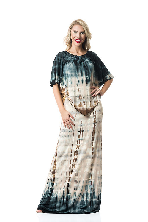 SAND DUST 3-WAY ANGEL MAXI DRESS