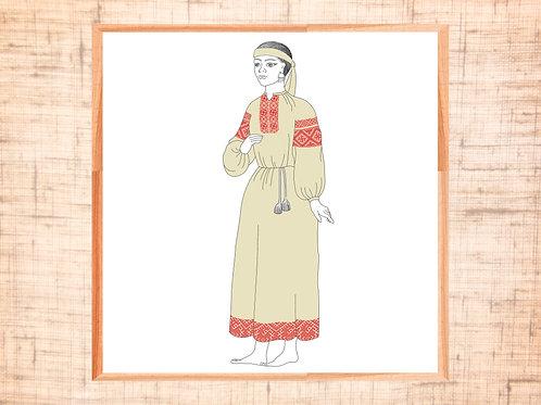Готовые схемы орнаментов для Женского Платья