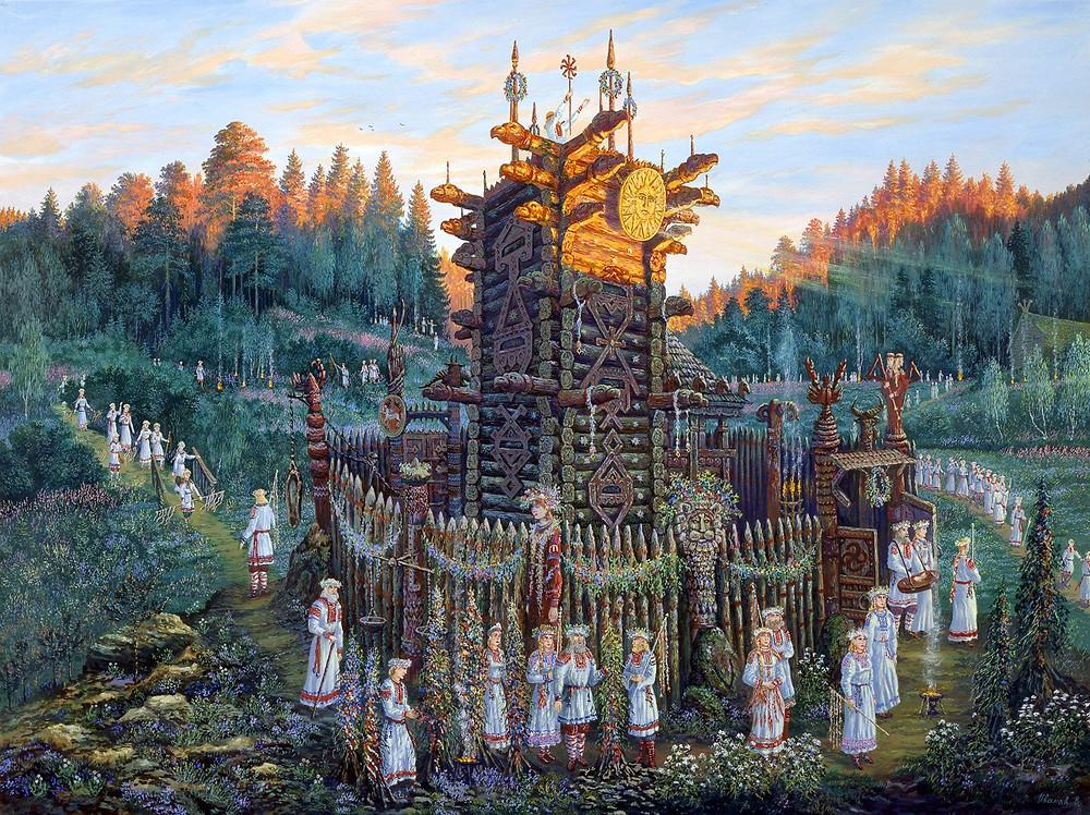 Святилище Числобога, Утро летнего Солнцестояния