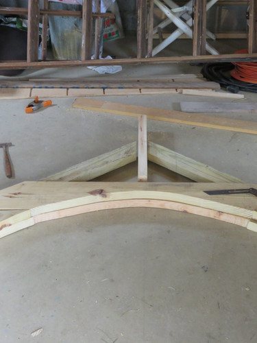 Construction of First Arch (two more to go!)