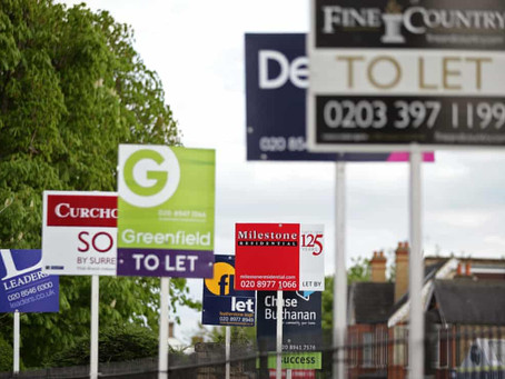 UK rents fall for first time in a decade