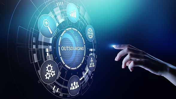 Outsourcing Global recruitment HR concep