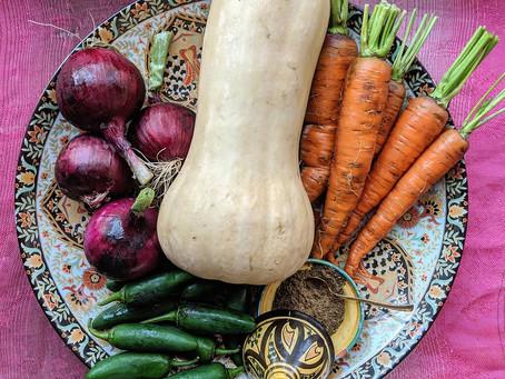 Chicken and Autumn Vegetable Tagine