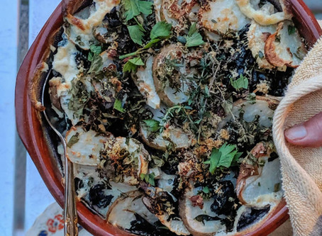Kale and Celeriac Gratin