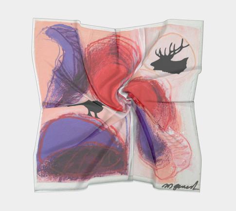 Certaines œuvresde la sérieRencontres cellulaires ont été imprimées  sur foulards.    Un délicat cadeau à offrir, ou à s'offrir...  16po.x16po. - 20$ 26po.x26po. - 40$ 36po. x 36po. - 40$    Communiquez avec nous  | cliquez ici |