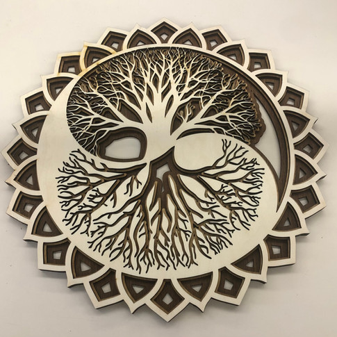 Tree of life laser projects