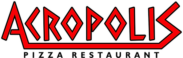 Acropolis Pizza Logos - Black Letters.pn